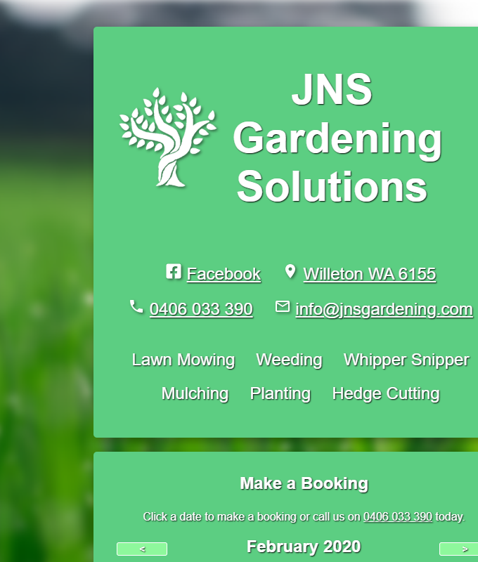 header for JNS Gardening Solutions